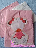 """Сменное постельное белье Bepino """"Мишка девочка сидит"""", фото 1"""