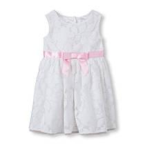 Нарядное платье для девочки 2 года, белое гипюровое The Children's Place (США)