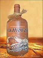 """Декор бутылки """"Самогон"""", оригинальный подарок для мужчины на новый год или день рождения"""