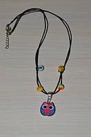 детское ожерелье с небольшой подвеской в виде совы