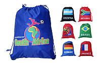Рюкзак-мешок WORLD CUP-B GA-2205 (PL, р-р 40х50см, черный, красный, синий)
