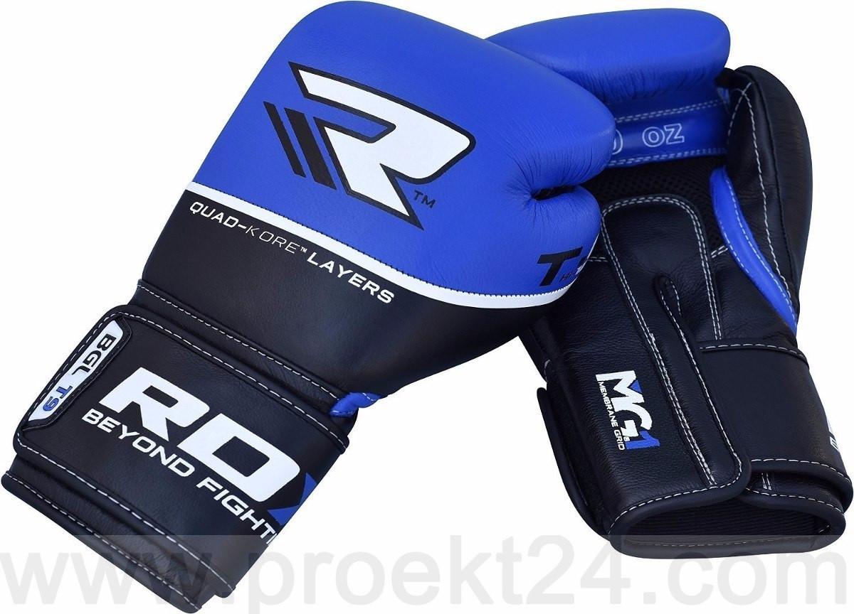Боксерские перчатки RDX Quad Kore Blue-14oz