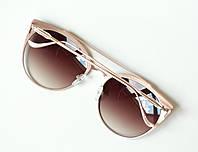Очки женские от солнца Chrome hearts золотые, магазин очков