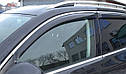 Дефлекторы окон (ветровики) Kia Optima 2011-> 4дв  Хром молдинг