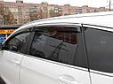 Дефлекторы окон (ветровики) Kia Optima 2011-> 4дв  Хром молдинг, фото 2