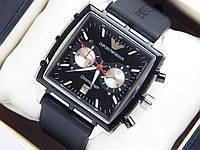 Мужские механические наручные часы Emporio Armani на каучуковом ремешке