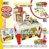 Игровой набор для лепки (пластилин для лепки) Kitchen Shoppe: игровая кухня + 32 предмета + 8 цветов