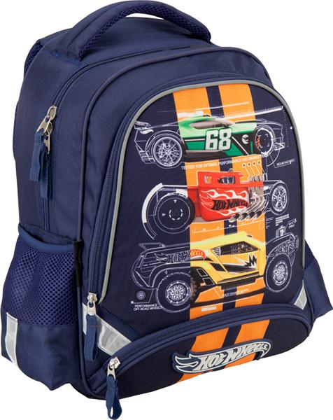 bc052ace1f4a Рюкзак школьный ортопед Kite 517 Hot Wheels для мальчиков (HW16-517S) - Mega