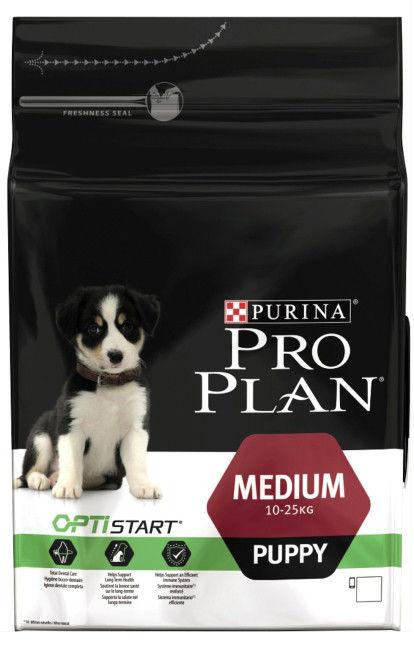 Pro Plan Puppy Medium корм для щенков средних пород с курицей
