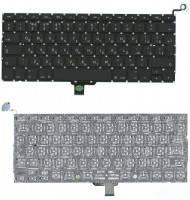 """Клавиатура для ноутбука APPLE (MacBook Pro: A1278, MC374, MC700, MB466, MB467, MB990, MB991, (2008, 2009, 2010, 2011) 13.3"""") rus, black, вертикальный"""