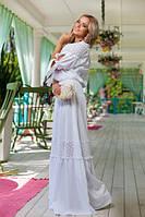 Длинное белое платье Мадлен