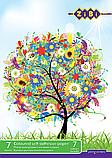 Набір кольоровий самоклеющейся паперу Металік А4 7л, 7цв., фото 2