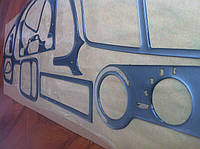 Накладки на панель Daewoo Lanos (алюминий)