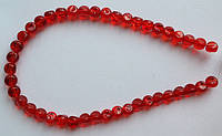 Бусина Шар фигурный цвет красный 8 мм
