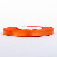 Лента атласная 0,6 см оранж