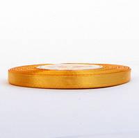 Лента атласная 0,6 см золотистая