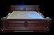 Кровать двуспальная из натурального дерева Версаль белая, фото 2