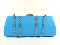 Вечерний голубой клатч, сумочка Rose Heart 102374 на цепочке