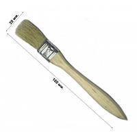 Кисть флейцевая утолщенная 20 мм, плоская (набор 10 шт)