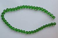 Бусина Шар фигурный цвет зеленый 8 мм