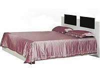 Кровать Тулуза 160 2сп 1020х1660х2085мм белая + черная   Світ Меблів