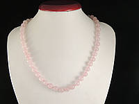 Бусы из розового кварца, шар 8мм