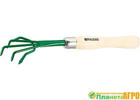 Рыхлитель 5-зубый, металлический, деревянная рукоятка, 330 мм