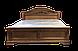 Кровать двуспальная из натурального дерева Версаль белая, фото 8