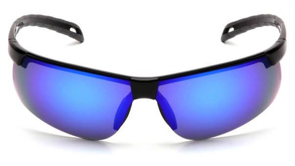 Окуляри спортивні захисні з блакитними зеркальнымми лінзами Pyramex Ever-Lite (ice blue mirror), фото 2