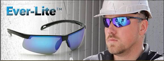 Очки спортивные защитные с голубыми зеркальнымми линзами Pyramex Ever-Lite (ice blue mirror), фото 3