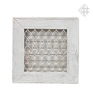 Вентиляционная решетка KRATKI Retro белая 22Х22 с одной дверкой выдвижная
