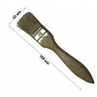 Кисть флейцевая утолщенная 40 мм, плоская (набор 10 шт)