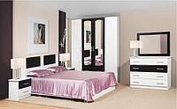 Спальня Тулуза комплект белая + черная   Світ Меблів