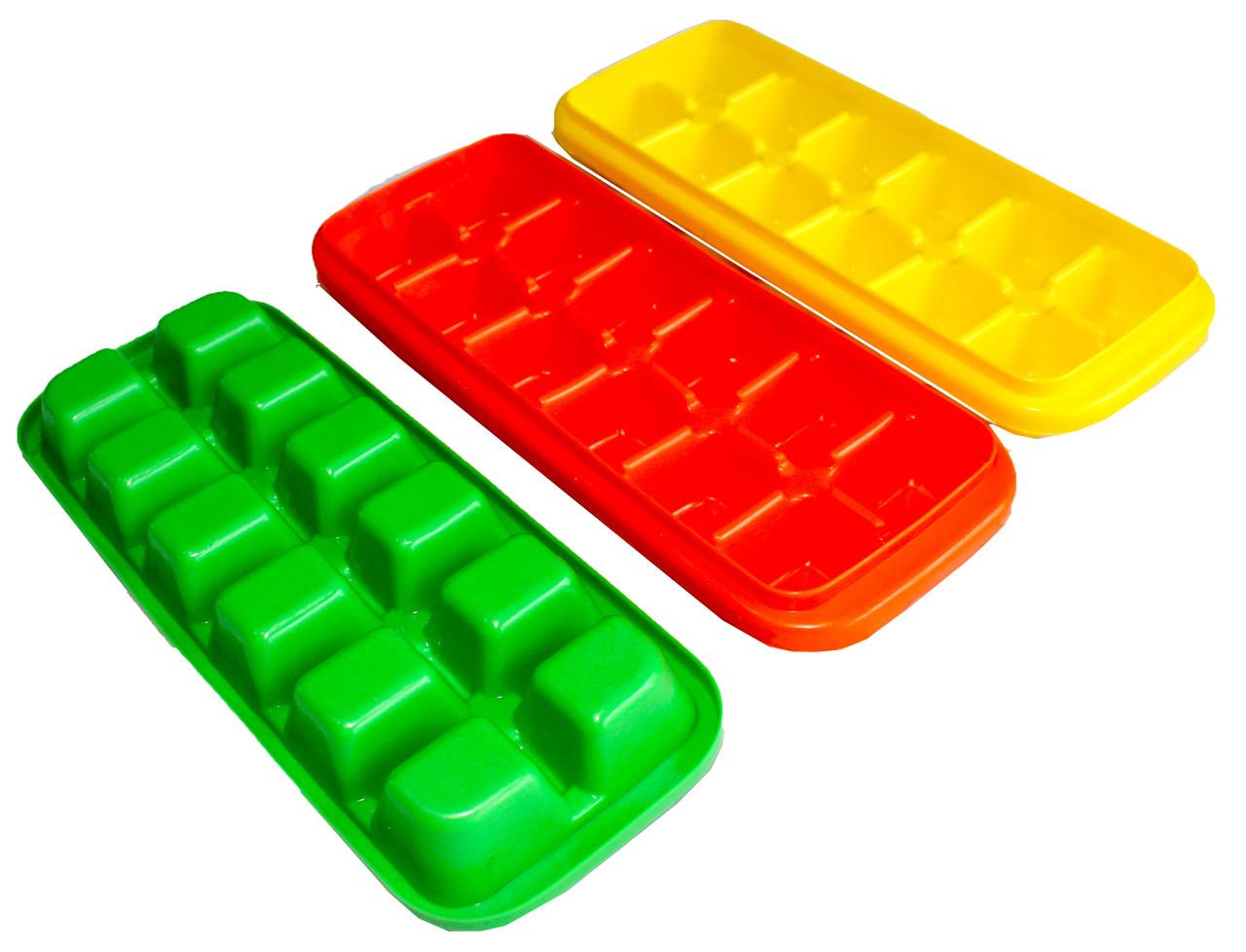 Формы для льда КУБИК пластиковые цветные