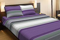 Постельное белье Lotus Ranforce Loft фиолетовый полуторного размера