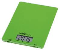 Кухонные электронные весы  Сlatronic KW 3626 зеленые