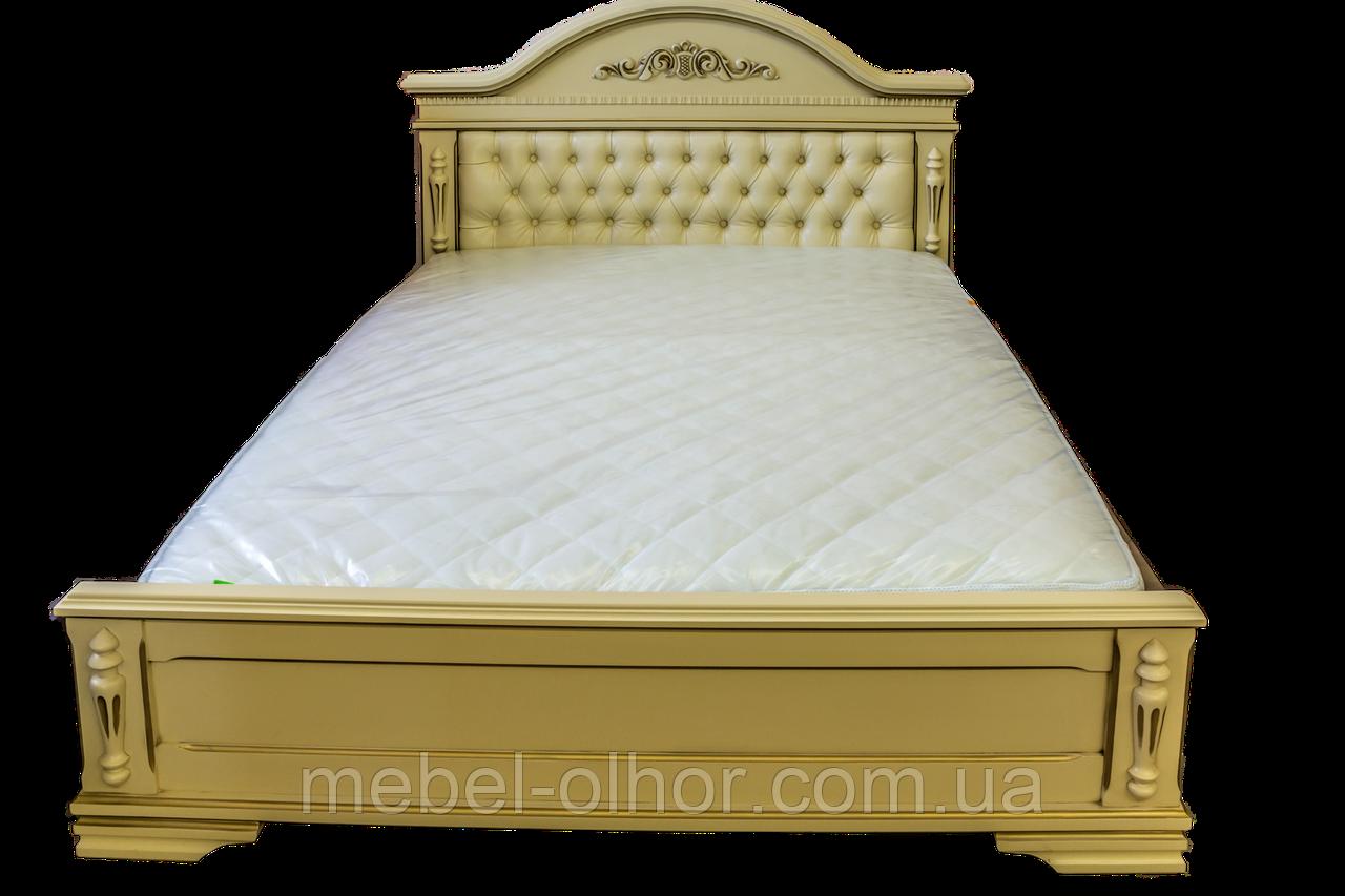 Кровать из  дерева Неаполь 200*200 белая (производитель)