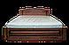 Кровать из дерева Вера (с кованным элементом) двуспальная, фото 10