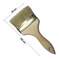 Кисть флейцевая утолщенная 90 мм, плоская (набор 10 шт)