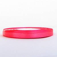 Лента атласная 0,6 см ярко- розовая