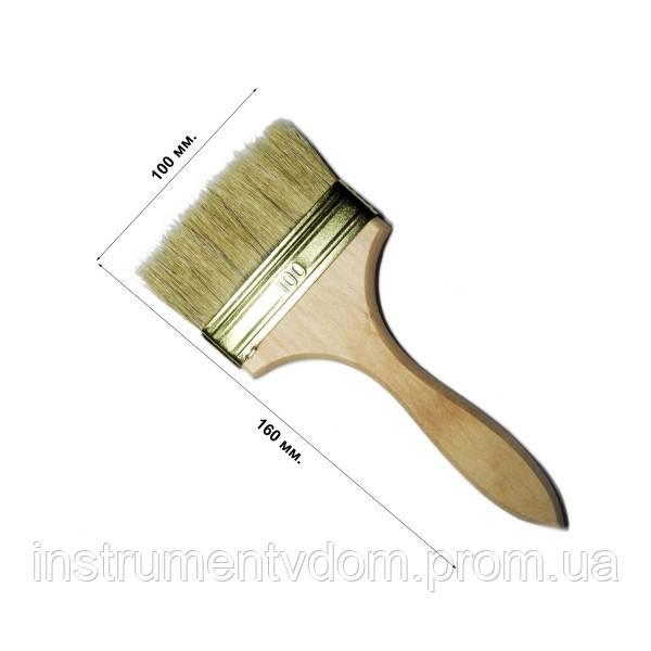 Кисть флейцевая утолщенная 100 мм, плоская (набор 10 шт)