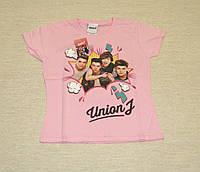 Футболка девочке розовая Union J, размер S