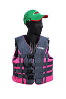 Спасательный жилет Розово-серый (70-90)кг