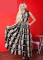 Длинное платье в стиле Дольче Габбана