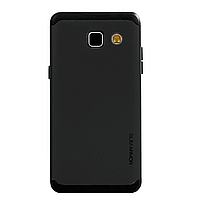 Бампер алюминиевый для Samsung Galaxy A5 (A510 2016) - Motomo TPU Metal case (черный)