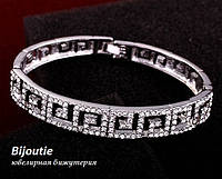 Браслет ГРЕЦІЯ SILVER ювелірна біжутерія платина декор кристали Swarovski