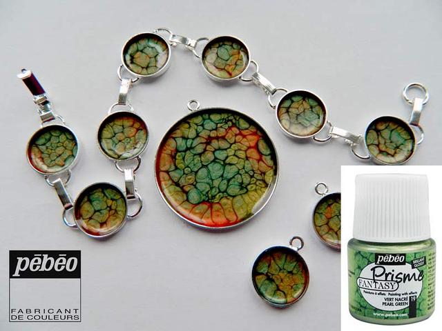 Краскa Pebeo Fantasy Prisme зеленый перламутр для фантастических эффектов