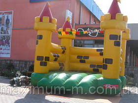Замок надувной батут для праздника под заказ.