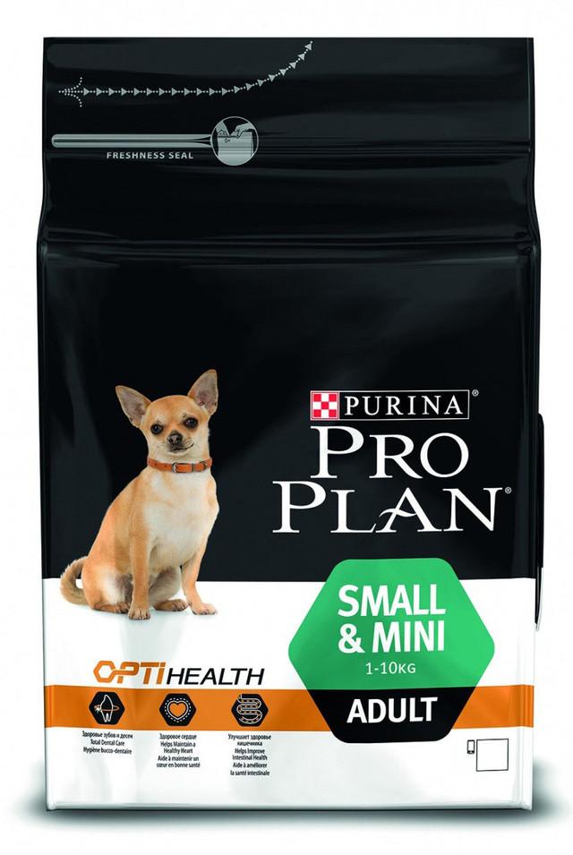 Pro Plan Adult Small and Mini Optihealth корм для взрослых собак мелких пород