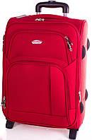 Компактный маленький чемодан на 2-х колесах 35 л. SUITCASE (СЬЮТКЕЙС) APT001S-1 красный